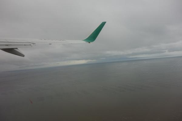 佐賀空港離陸時の様子