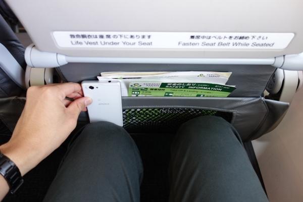 春秋航空日本の座席の足元の広さ