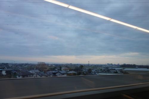 車内から見えた高崎=大宮間の景色