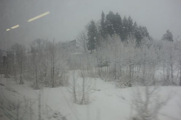 真冬の車窓