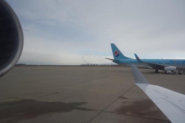 新潟空港出発時の景色