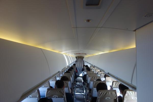 CRJ200型機の機内の高さ(自分目線)