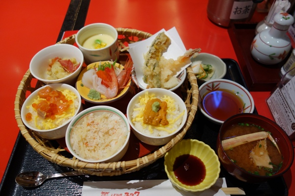 新千歳空港内レストラン「ユック」で食べた定食