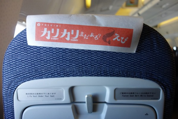 エアドゥの座席カバー