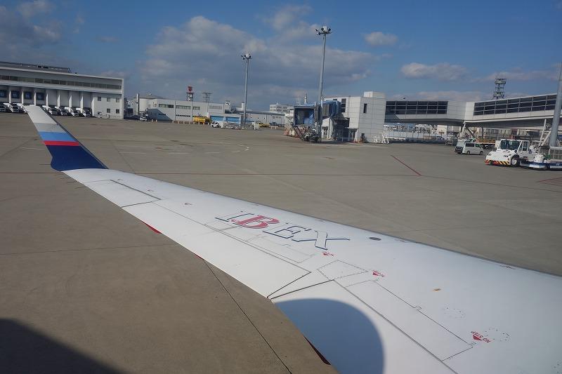 IBEXエアラインズのCRJ700の機内から見た翼