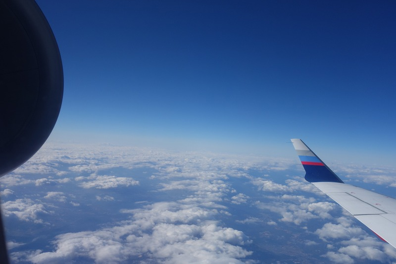 エンジンと翼を絡めた機窓