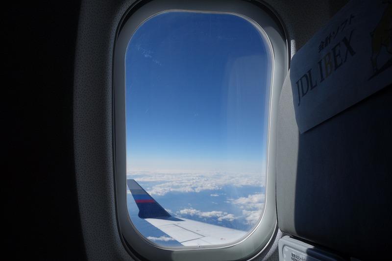 CRJ200よりも大型化したCRJ700の窓