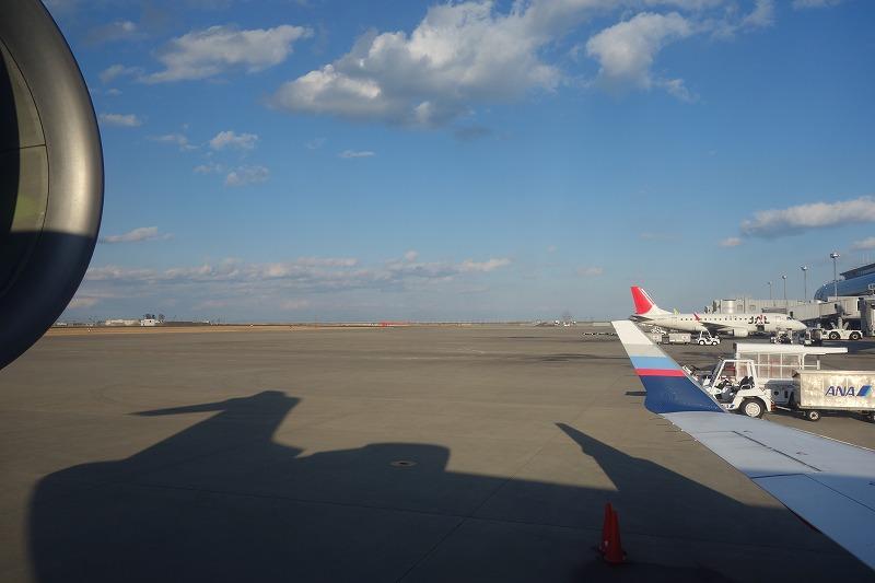 仙台空港到着時のスポットの様子