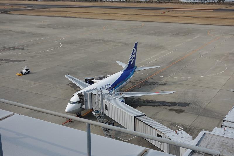 搭乗機のANAのB737-500(JA8504)