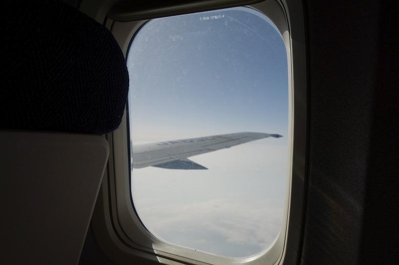 機内から撮影した機窓