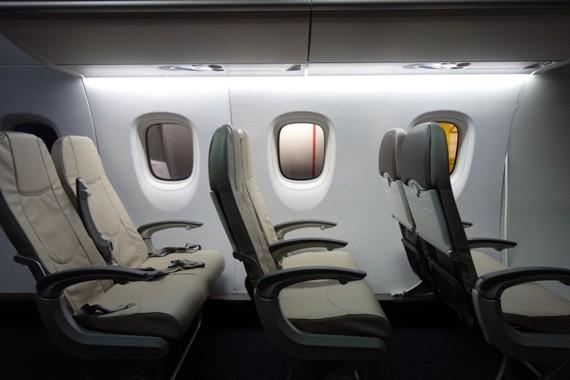 MRJの実機に搭載予定のシート