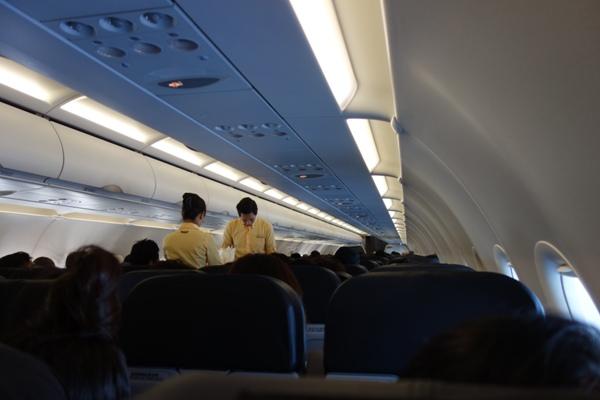 タイガーエア台湾のCAさんと機内の様子