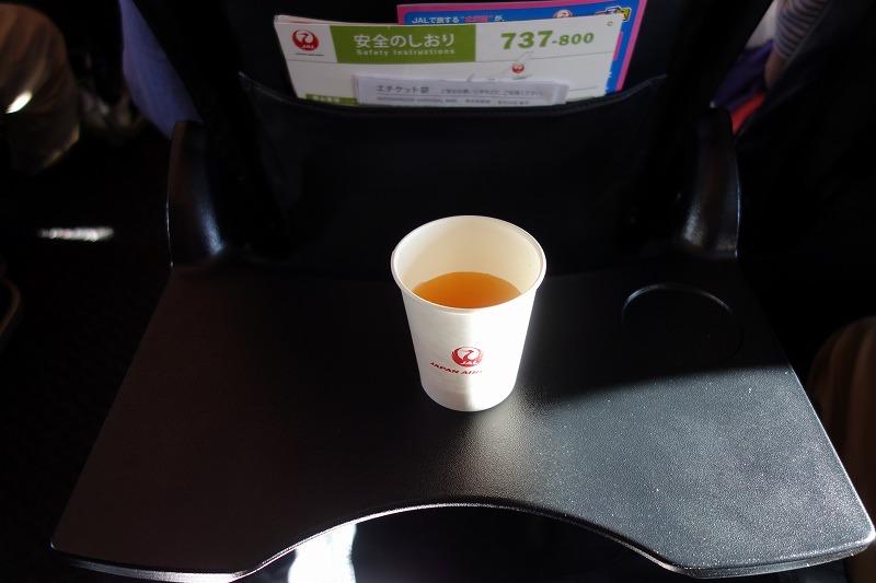 JALのビーフコンソメの機内サービス