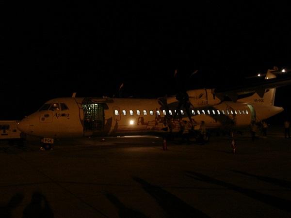 シェムリアップ国際空港到着時の様子