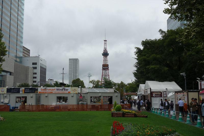 イベント開催中の大通公園