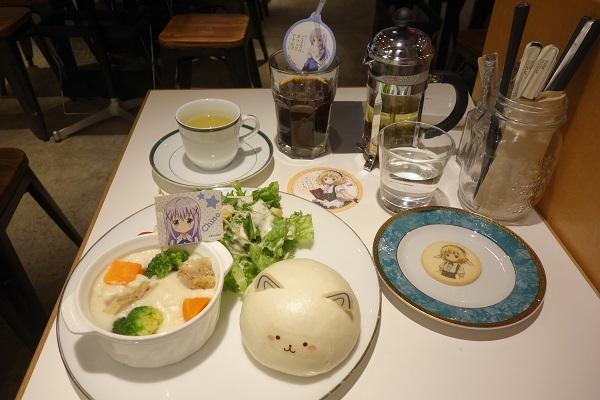ごちうさカフェで注文したフード・ドリンクメニューの一覧