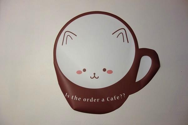 カフェ内のティッピーのイラスト
