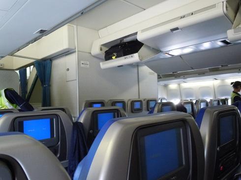 B747-400のCコン機内の様子