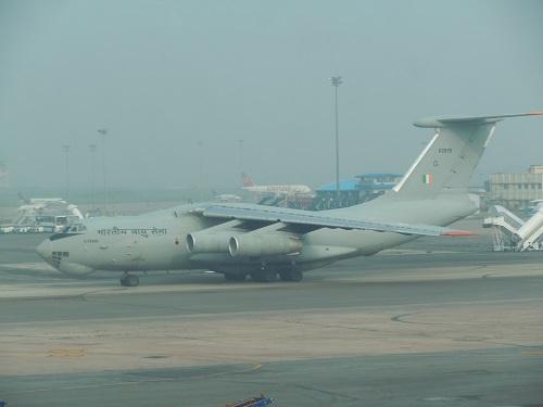 インド軍のIL-76型輸送機