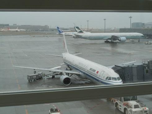 搭乗機の中国国際航空のA321型機