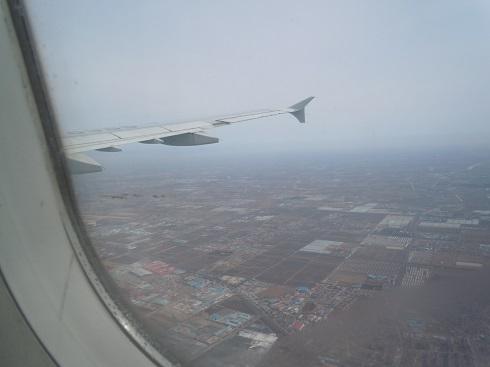 機内より見た中国の土地