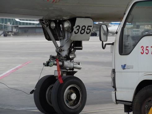 A321の前輪