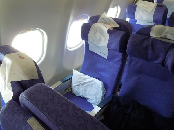 中国国際航空のA330型機の座席