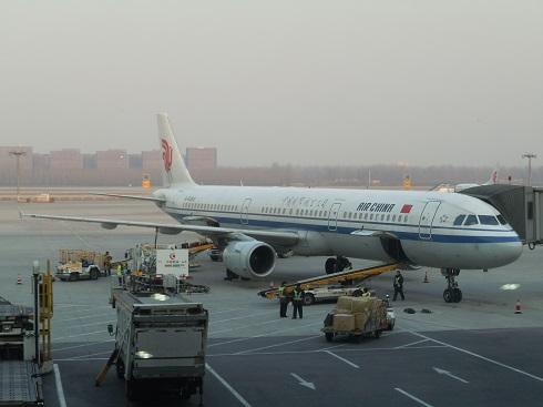 搭乗機の中国再航空のA321型機