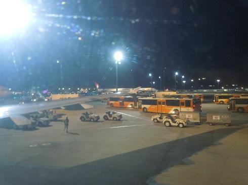 羽田空港到着時の様子