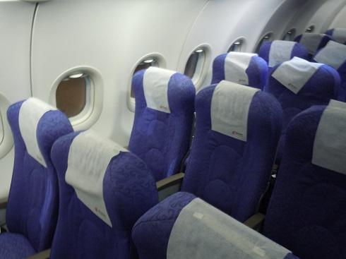 中国国際航空のA321型機のエコノミークラスのシート