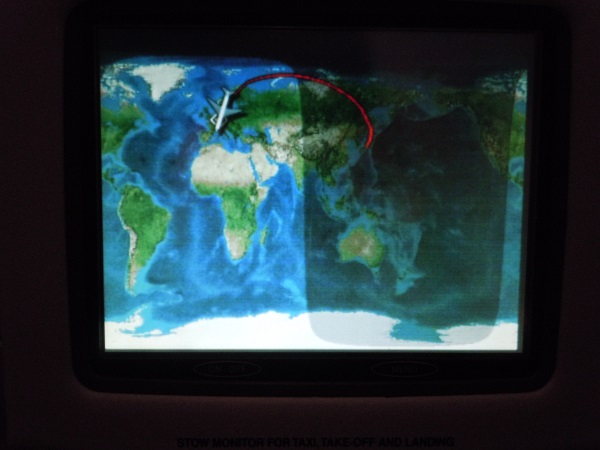 名古屋=フランクフルト路線の飛行ルート