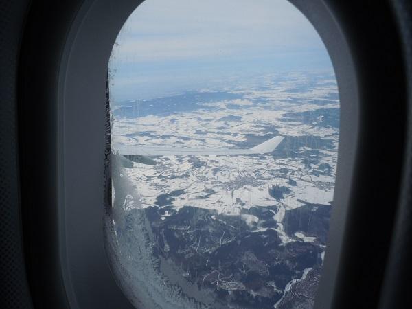 A340-600の機内からの眺め