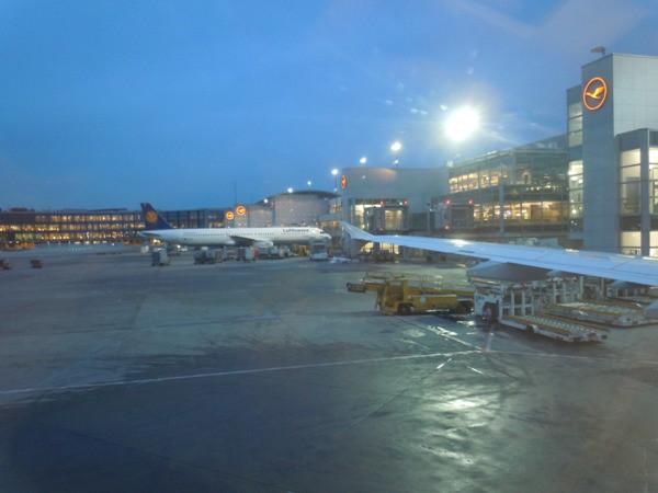 フランクフルト国際空港出発時の景色