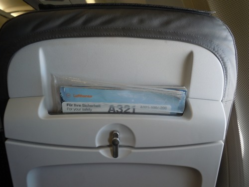 スタイリッシュなデザインが特徴的なルフトハンザのA321型機の座席
