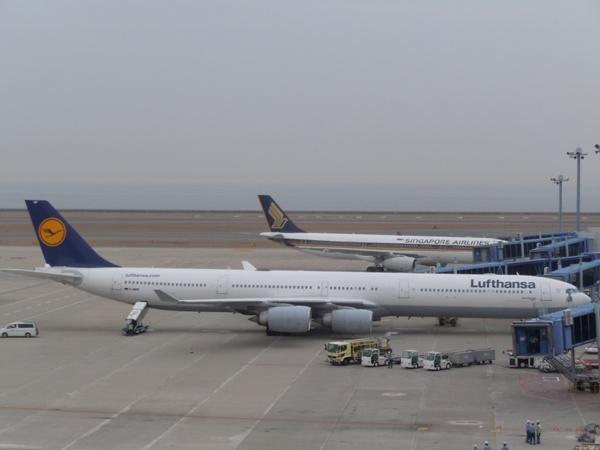 長い胴体が特徴的なルフトハンザのA340-600