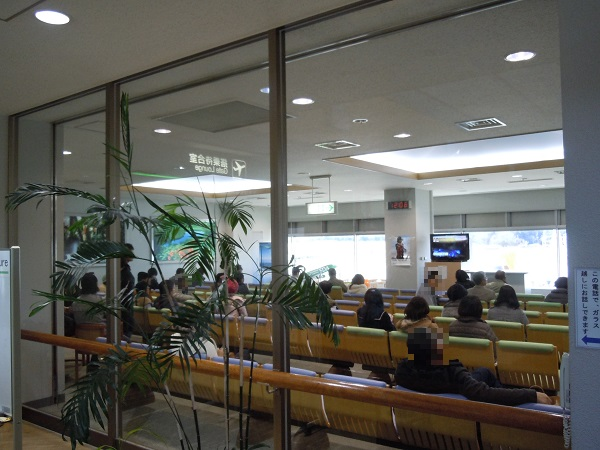 松本空港の搭乗待合室の様子