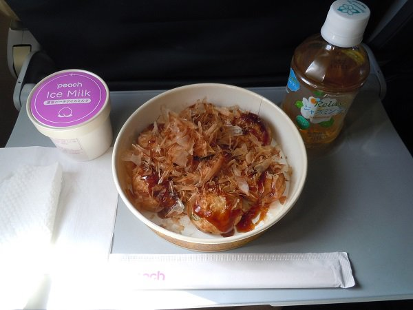 ピーチ機内にて購入した機内食一覧