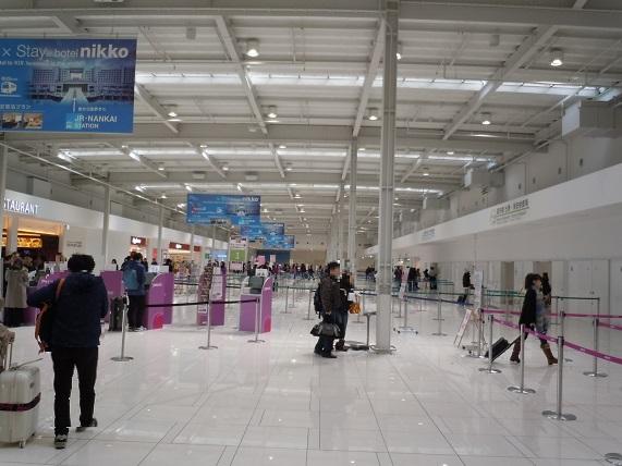 関西国際空港LCCターミナル内の様子