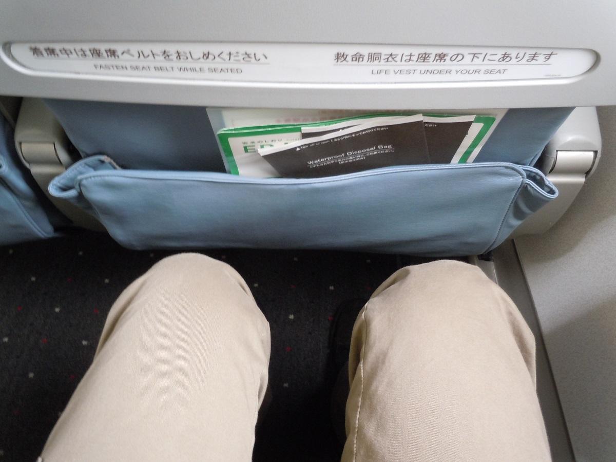 FDAのE170型機の広々とした座席の足元