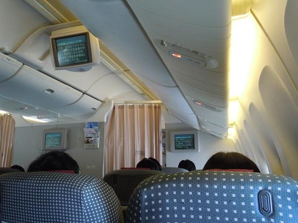 クラスJゾーンの機内の様子