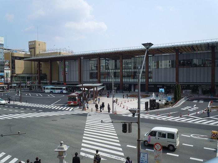 長野駅ビルの全景