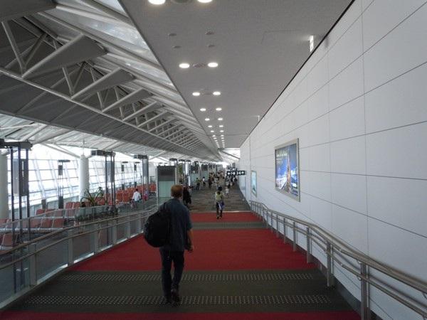 中部国際空港出発ロビーにて