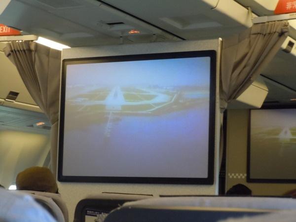 那覇空港到着時の機外カメラの様子