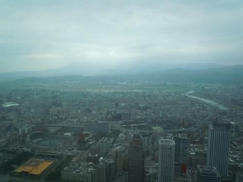 台北101から見える台北松山空港