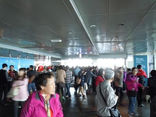 台北101の展望台内部の様子