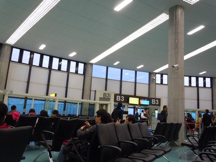 台北桃園国際空港の搭乗口の様子