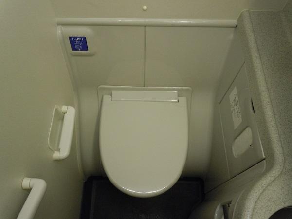 B737-800のトイレ内部