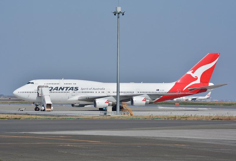 カンタスのB747-400ER