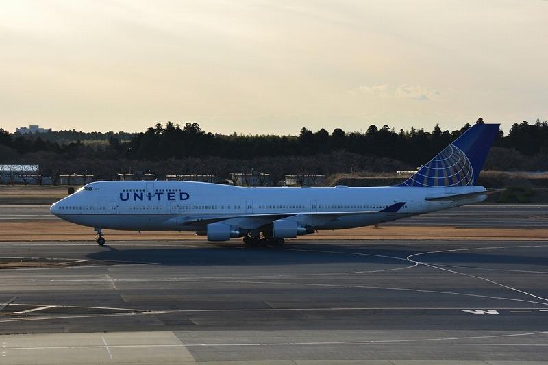 ユナイテッド航空のB747-400型機