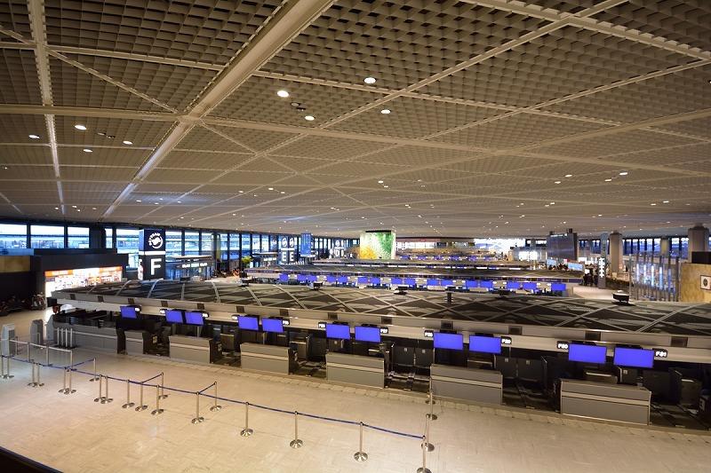 成田空港第一ターミナル内部の様子